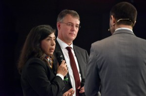 Aygüt Özkan, Ministerin a.D.; Staatssekretär Gunther Adler, Bedo B. Kayaturan